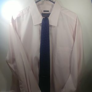 Jos. A. Bank Reserve 18.5.  33 Pink Shirt W Tie